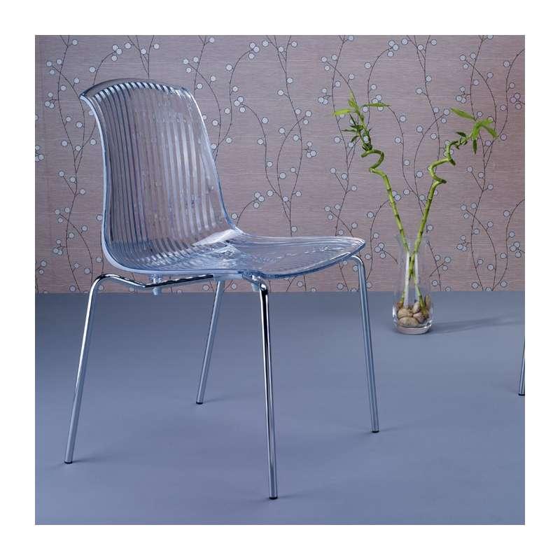 Chaise moderne en polycarbonate allegra 4 pieds tables chaises et tabo - Chaises en polycarbonate ...