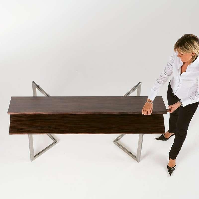 table console modulable en bois et m tal giravolta r f 180 4 pieds tables chaises et. Black Bedroom Furniture Sets. Home Design Ideas