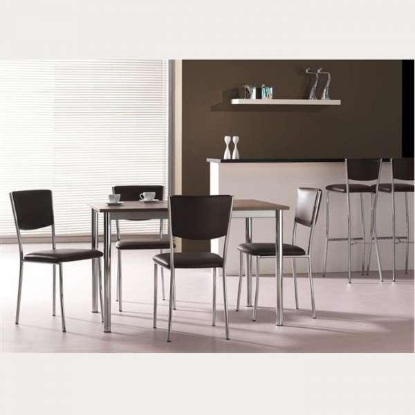 Chaise de cuisine en métal et vinyle - Ruby