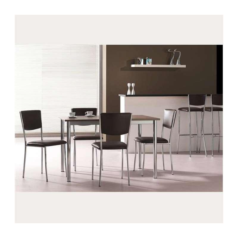 Chaise de cuisine en m tal ruby 4 pieds tables chaises et tabourets - Eco cuisine herblay ...