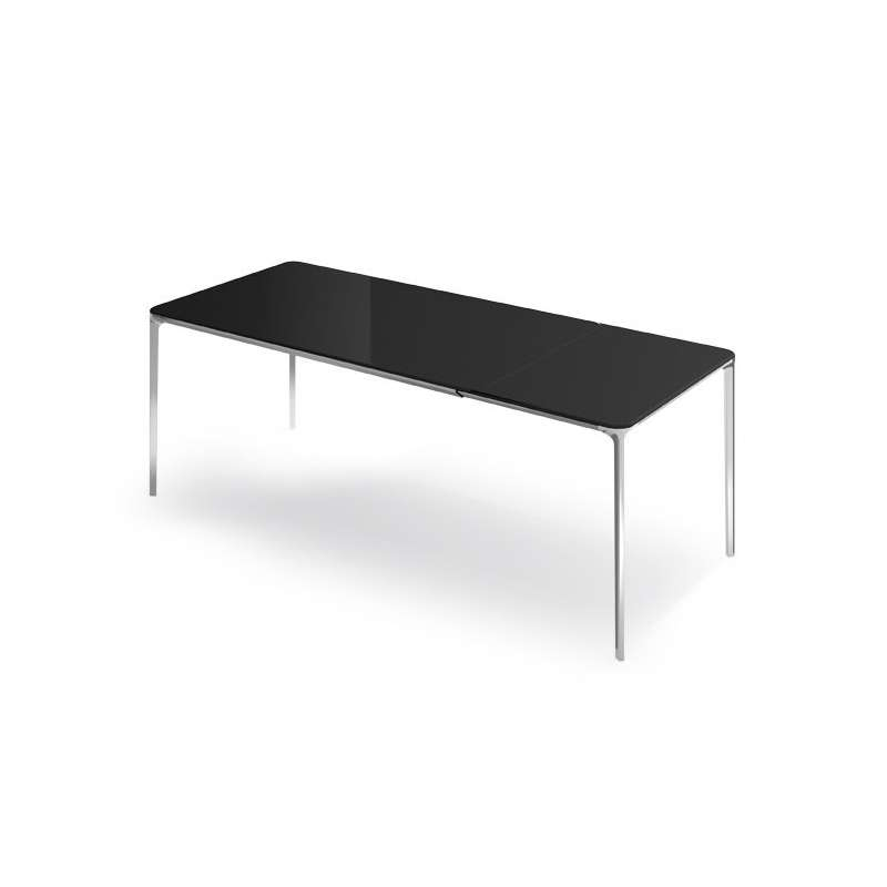 table en verre design extensible slim sovet 4. Black Bedroom Furniture Sets. Home Design Ideas