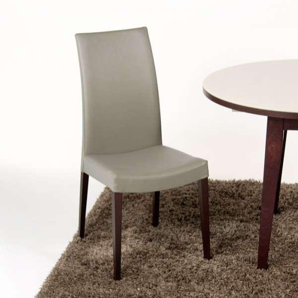 Chaise de salle manger contemporaine en bois tortora 4 for Chaise sejour moderne