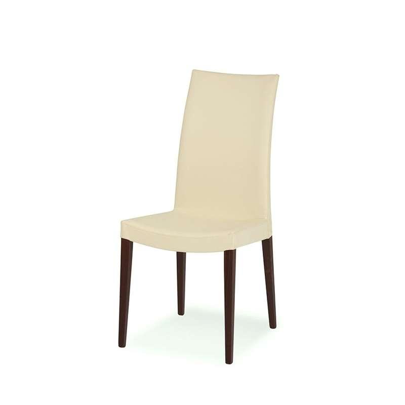 Chaise de salle manger contemporaine en bois et vinyle - Chaise contemporaine bois ...