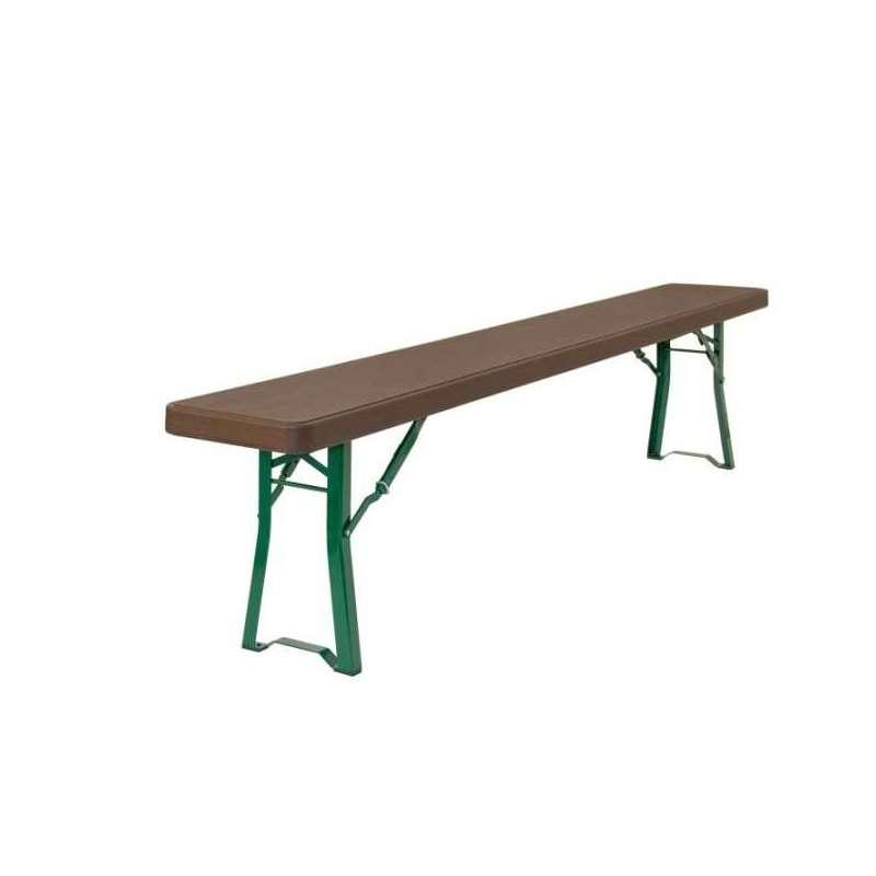 Banc pliant en poly thyl ne munich 4 pieds tables for Table et banc pliant castorama