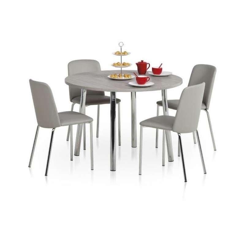 table de cuisine ronde en stratifi elli 4. Black Bedroom Furniture Sets. Home Design Ideas