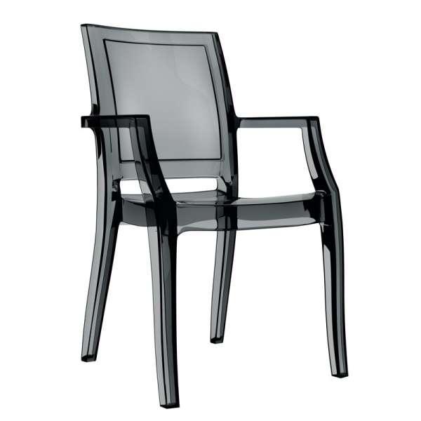 Fauteuil moderne en polycarbonate transparent noir - Arthur - 4
