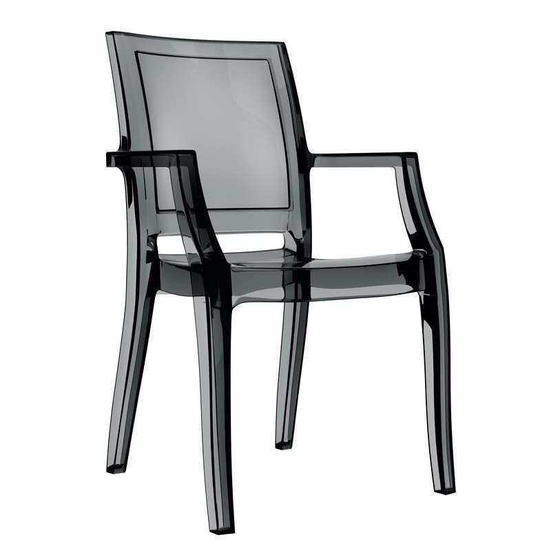 Fauteuil moderne en polycarbonate arthur 4 pieds tables chaises et tab - Fauteuil polycarbonate transparent ...