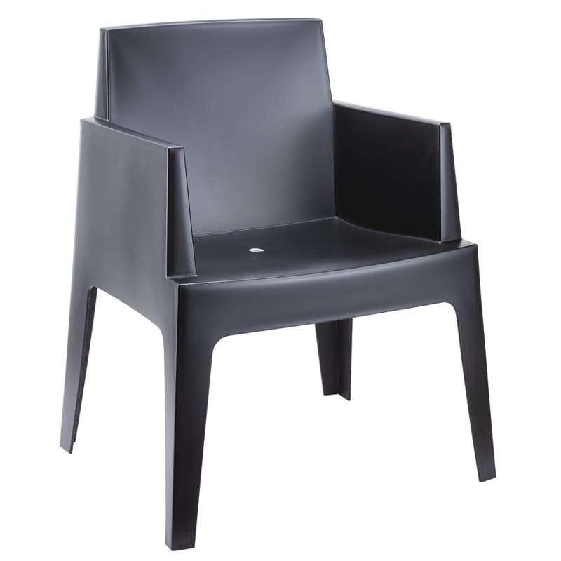 Fauteuil de terrasse moderne en polypropyl ne box 4 pieds tables chaises et tabourets for Fauteuil de jardin canadien