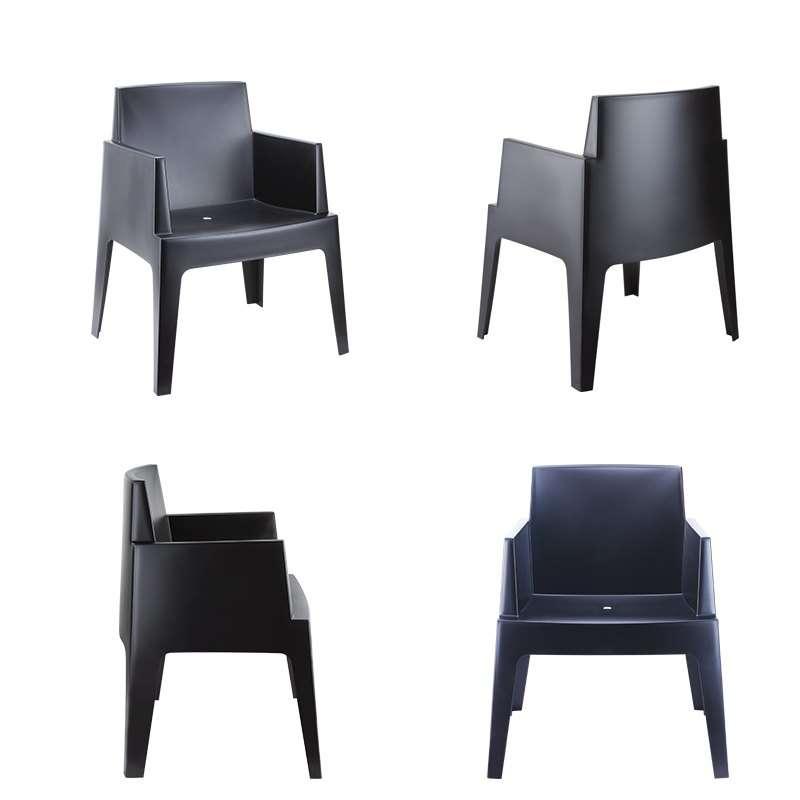 Fauteuil de terrasse moderne en polypropyl ne box 4 for Conforama chaise de jardin