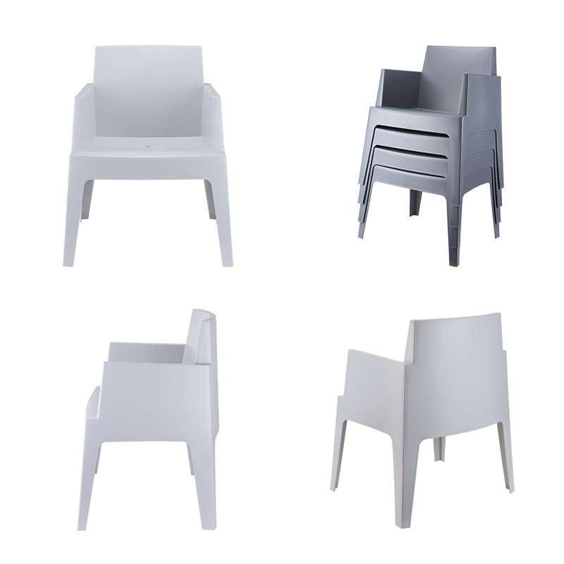 Fauteuil De Terrasse Moderne En Polypropyl Ne Box 4 Pieds Tables Chaises Et Tabourets