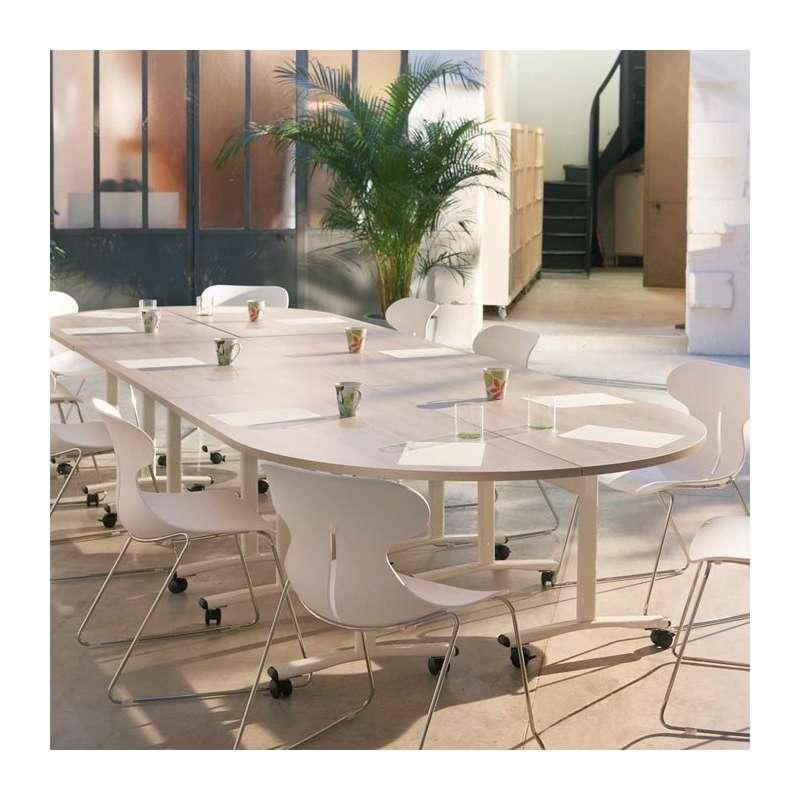 table de r union rabattable en m lamin et m tal ebba 4. Black Bedroom Furniture Sets. Home Design Ideas