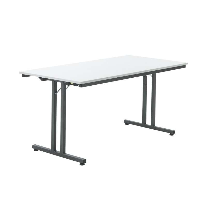 Table de r union pliante en m lamin et m tal ezio 4 - Table pliante metal ...