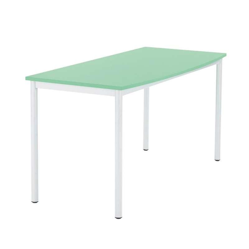 Table de r union en m lamin et m tal paco 4 pieds for Table 4 pieds