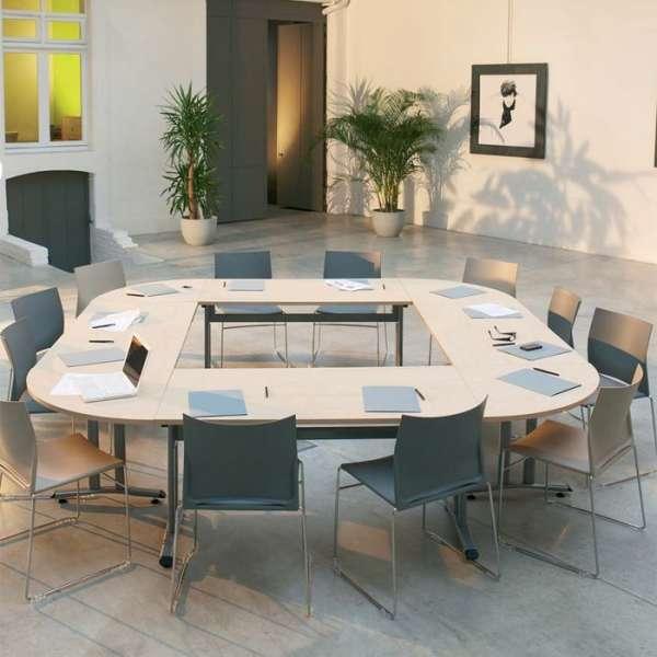 Table de réunion Pol à dégagement latéral - 2