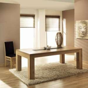 Table contemporaine en chêne Baobab
