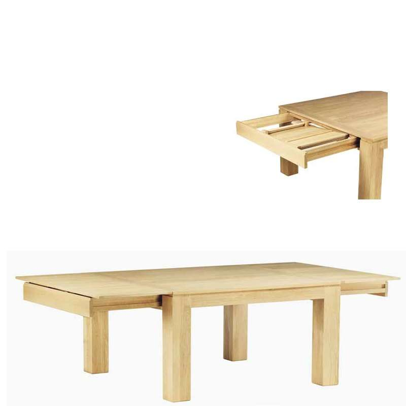 Table de salle manger en ch ne massif extensible Table extensible chene massif