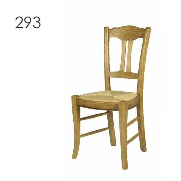 Chaise de salle à manger en bois rustique en chêne - 2