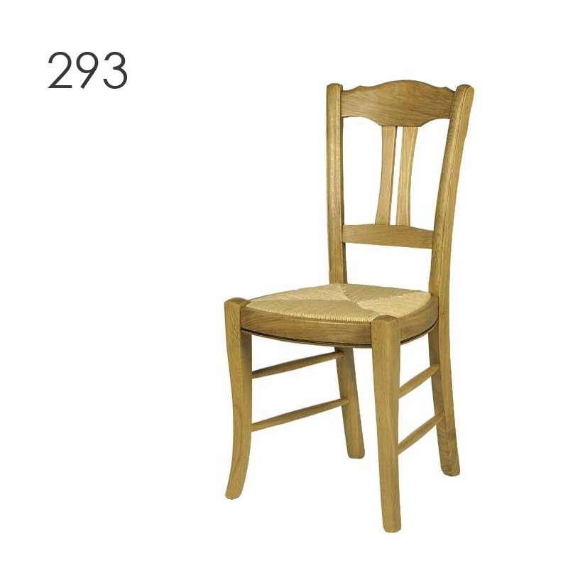 Chaise de cuisine rustique en ch ne massif 290 293 295 for Chaise de salle a manger en chene massif recouvert de tissu