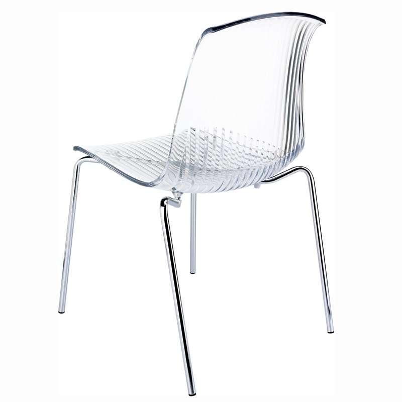 chaise moderne en polycarbonate et m tal allegra 4. Black Bedroom Furniture Sets. Home Design Ideas