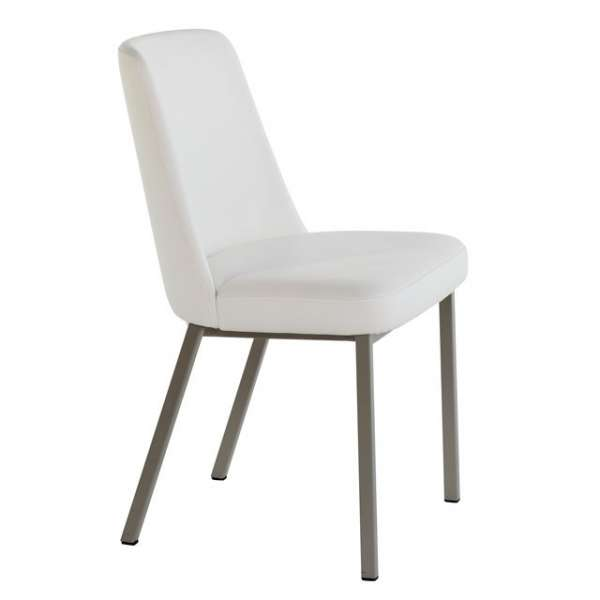 chaise contemporaine en m tal et synth tique eliz 4. Black Bedroom Furniture Sets. Home Design Ideas