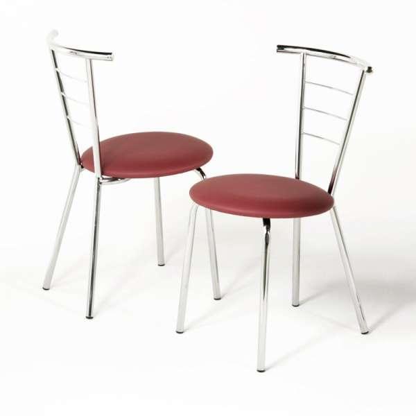 Chaise en métal et vinyl - Valérie 1 - 2