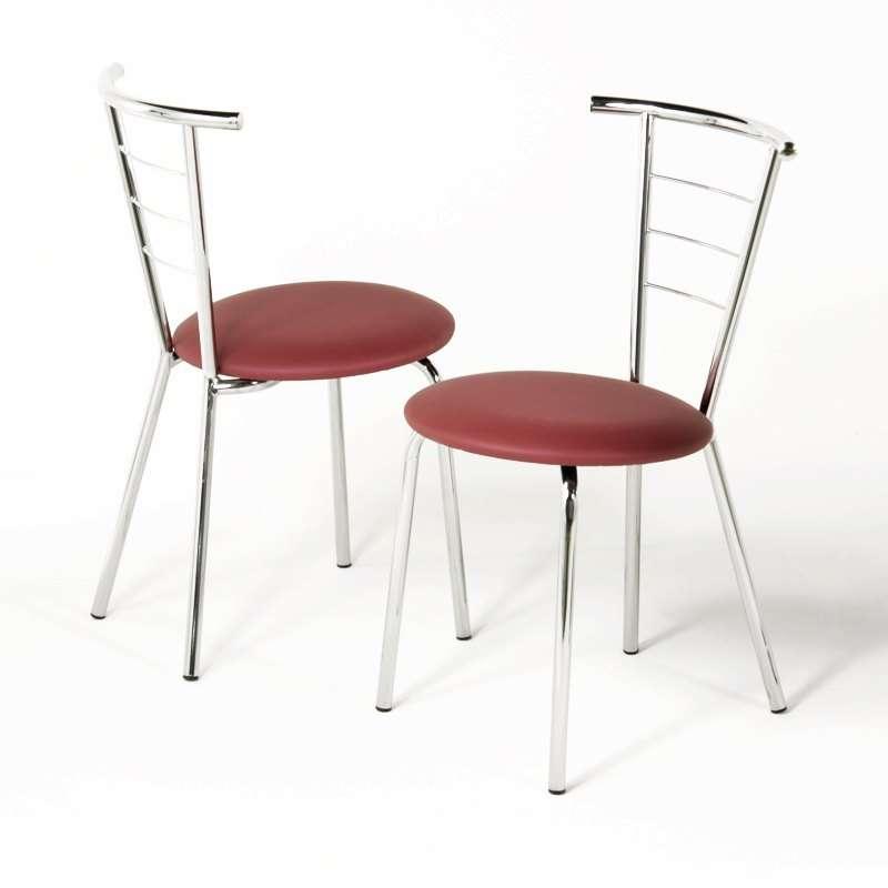 chaise de cuisine en m tal et synth tique val rie 4 pieds tables chaises et tabourets. Black Bedroom Furniture Sets. Home Design Ideas