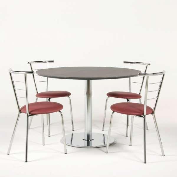 Chaise en métal et vinyl - Valérie 5 - 6