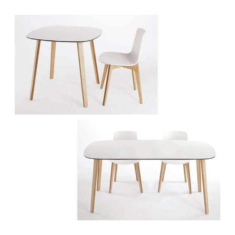 Chaise design en polypropyl u00e8ne Lottus Pieds bois Enea u00ae 4 Pieds tables, chaises et tabourets