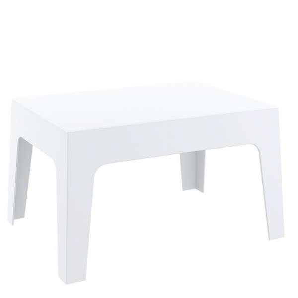 Table basse de terrasse en polypropylène blanc- Box - 3