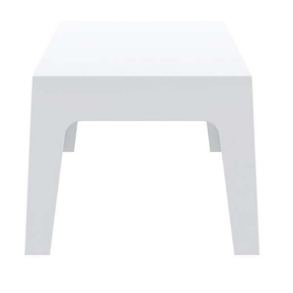 Table basse de jardin en plastique blanc - Box - 4