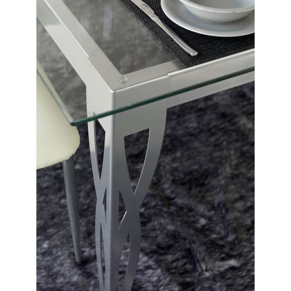 Table provençale en métal rectangulaire Milos