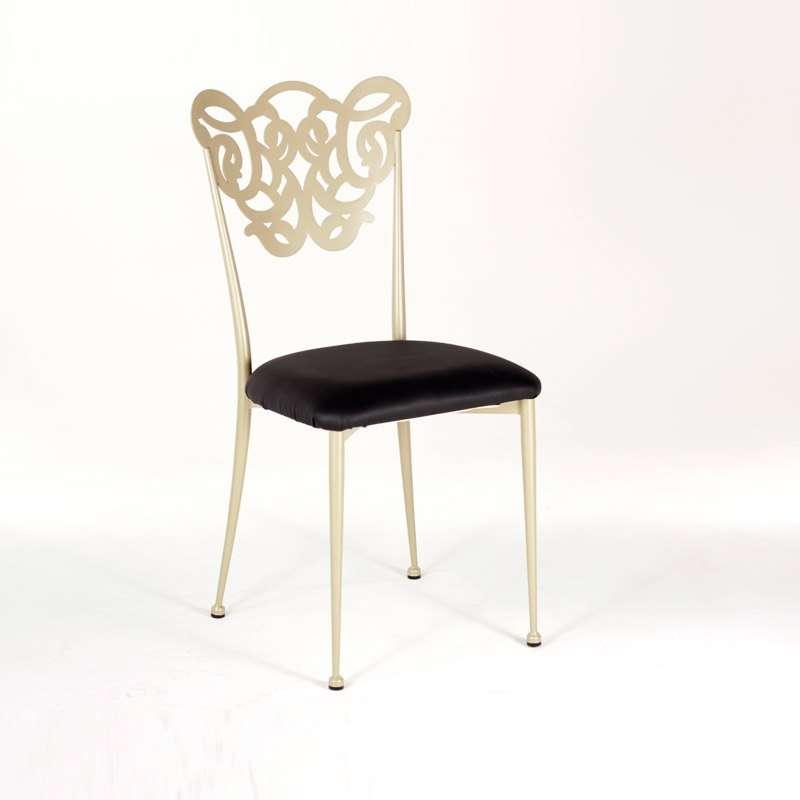 chaise en fer forg milos 4 pieds tables chaises et. Black Bedroom Furniture Sets. Home Design Ideas