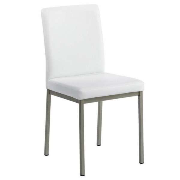 Chaise contemporaine en métal et revêtement synthétique - Villa