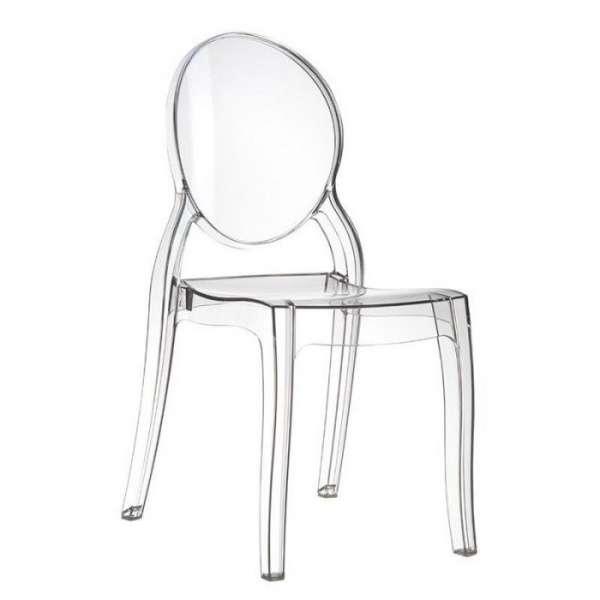 Chaise médaillon transparente en polycarbonate - Elizabeth