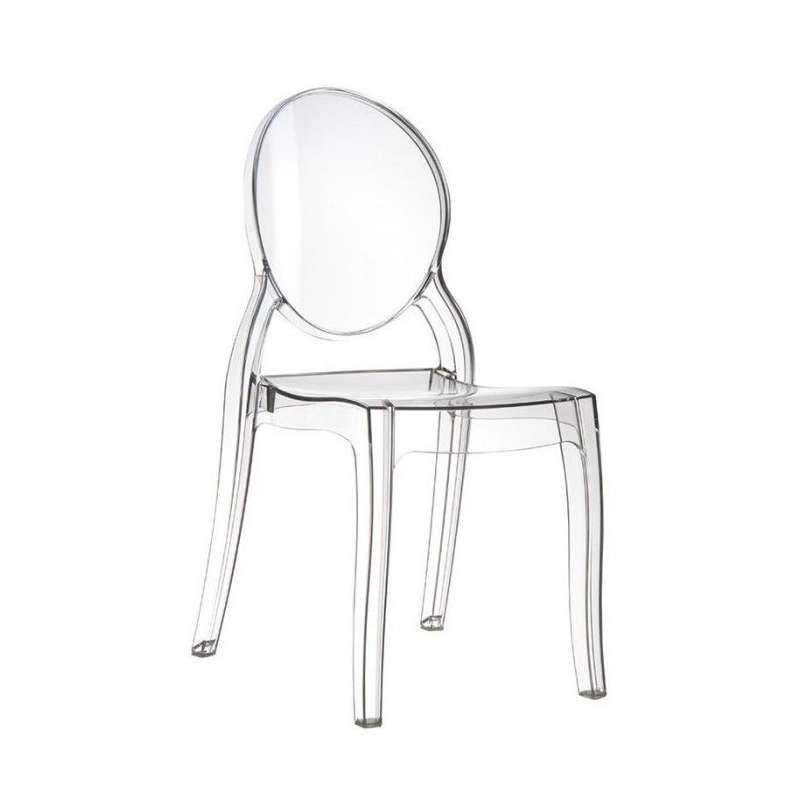 chaise design en plexi transparent elizabeth 1 - Chaise Transparente Design