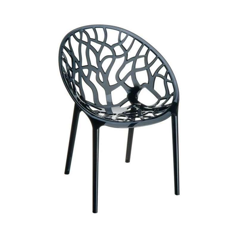 Chaise design en polycarbonate crystal 4 pieds for Chaise en polycarbonate