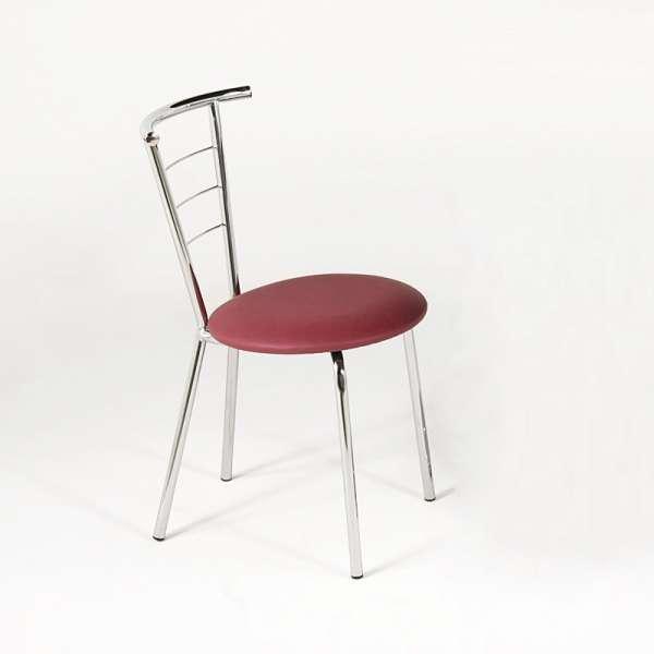 Chaise de cuisine en m tal et vinyle val rie 4 pieds for 4 pieds 4 chaises givors