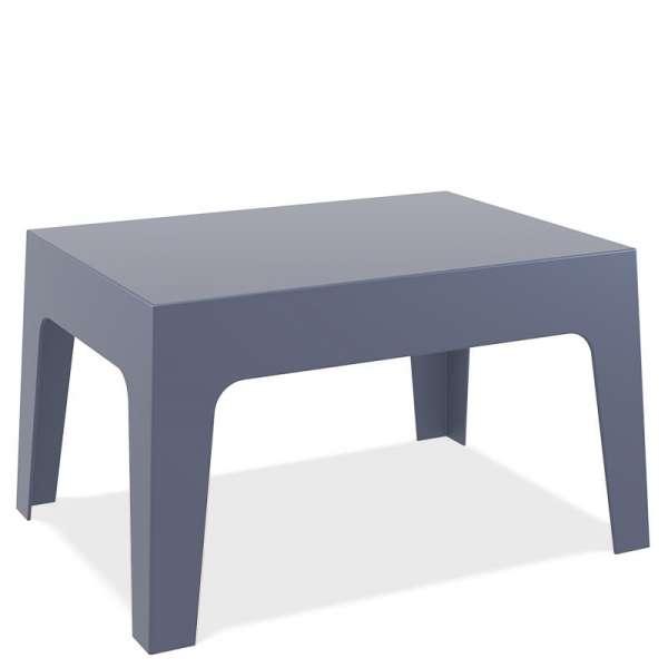 Table basse de jardin en polypropylène gris foncé - Box - 7