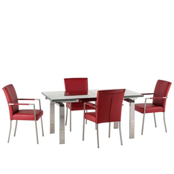 Table design en verre extensible Tanina - 26