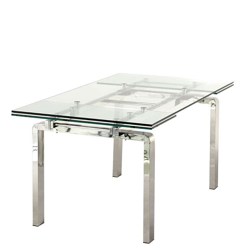 Table design en verre extensible tanina 4 pieds tables for Table design in mvc 4