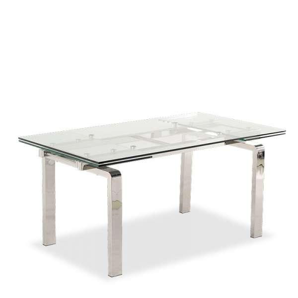 Table design en verre extensible Tanina - 24