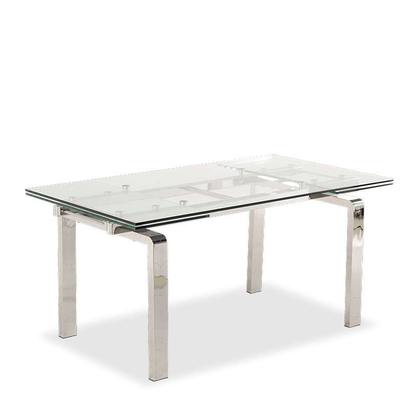 Table design en verre extensible tanina 4 pieds tables for Table de cuisine en verre