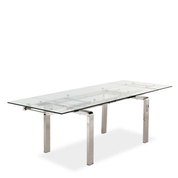 Table design en verre extensible Tanina - 11