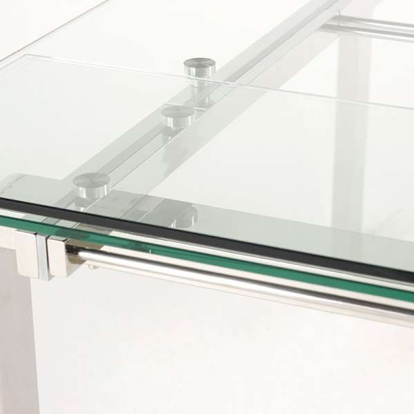 Table design rectangulaire en verre Tania - 4