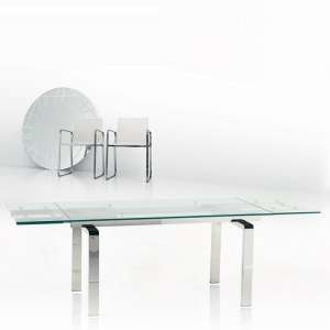 Table design en verre extensible Tanina
