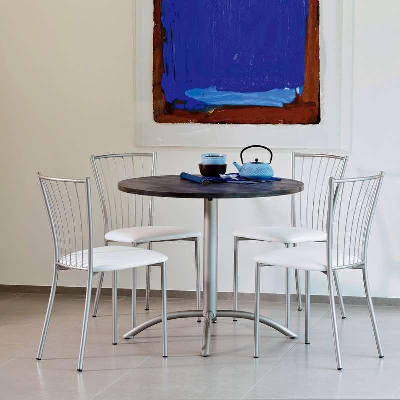 table ronde de cuisine en stratifi laser 4. Black Bedroom Furniture Sets. Home Design Ideas