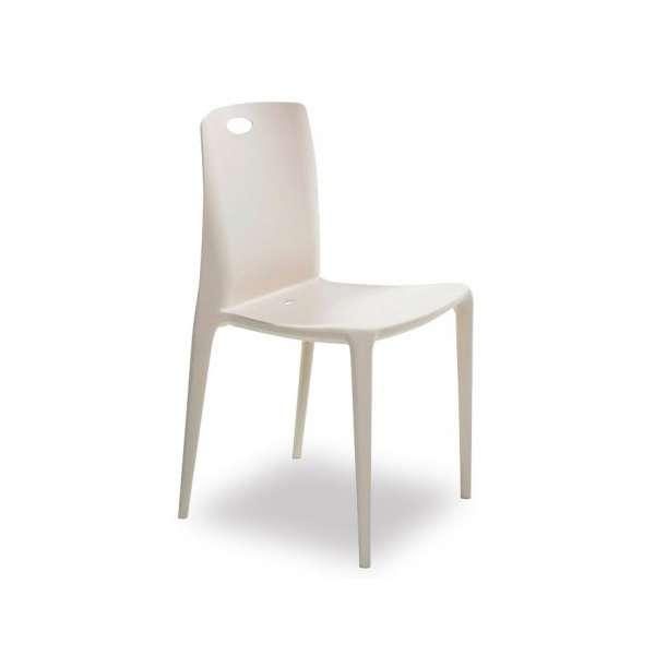 Chaise moderne empilable en polypropylène - Zeno