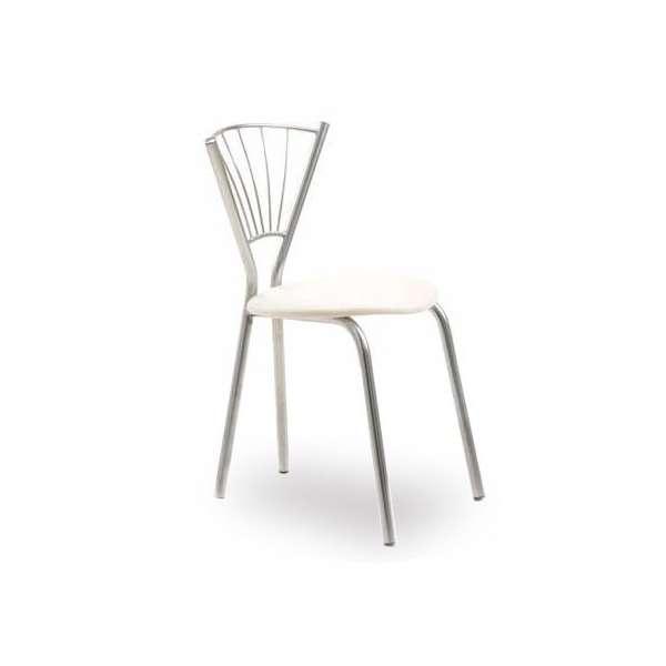 Chaise de cuisine contemporaine en synthétique et métal - Sandra