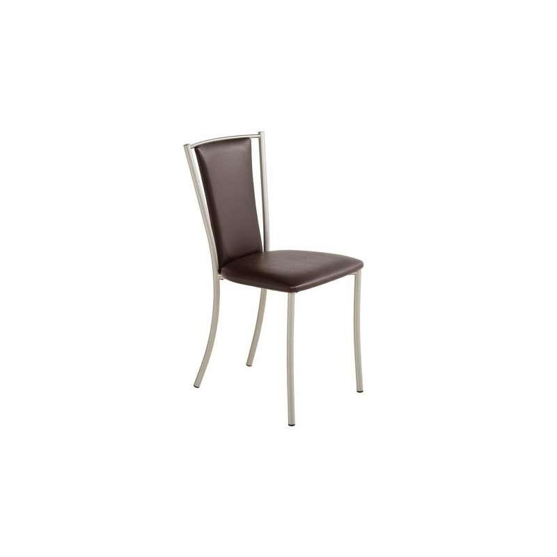 Chaise de cuisine contemporaine en m tal et vinyle reina - Chaise de cuisine confortable ...