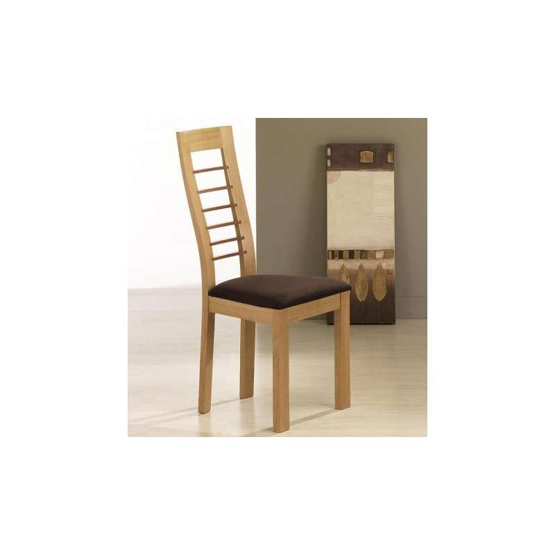 Chaise de s jour contemporaine en tissu et en ch ne massif for Table et chaise sejour